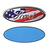 Automotive : FORD 7 Inch Front Grille Tailgate Emblem, 3D Oval 3M Double Side Adhesive Tape Sticker Badge for Ford Escape Excursion Expedition Freestyle F-150 F-250 F350 (American Flag)