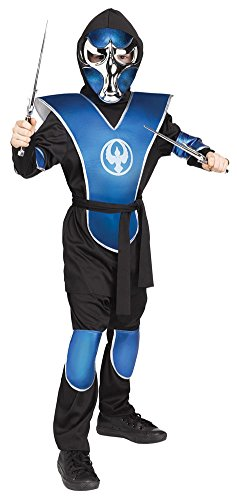 Boys Halloween Costume-Raven Ninja Blue Chrome Kids Costume Medium 8-10