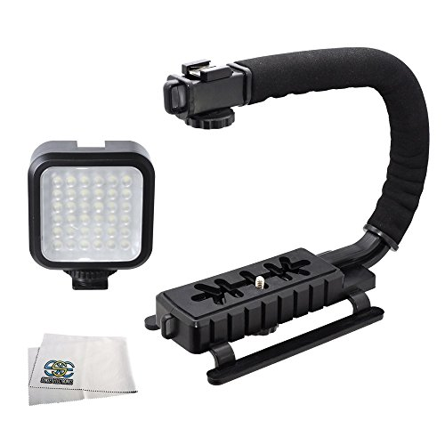 eo Light & Action Stabilizing Handle Package for Canon, Nikon, Sony, Pentax, Sigma, Fuji, Olympus, Panasonic, JVC, Samsung Cameras + Camcorders (Fuji Camera Camcorder)