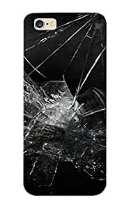 Awesome BYGRvpx794csRmG Catenaryoi Defender Tpu Hard Case Cover For Iphone 6 Plus- Broken Black Glass