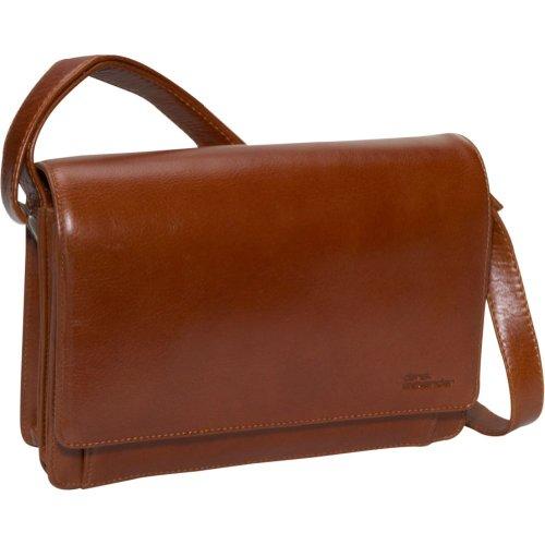 Derek Alexander Leather Flap Organizer Handbag – Tan, Bags Central