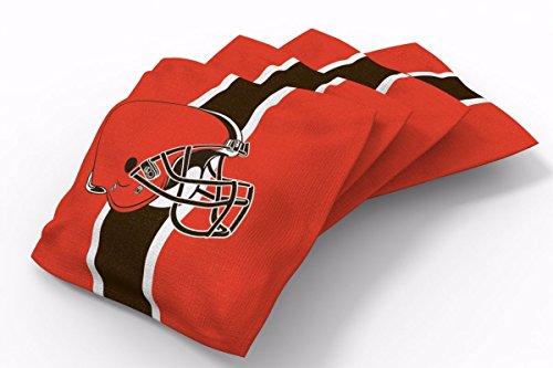 PROLINE 6x6 NFL Cleveland Browns Cornhole Bean Bags - Stripe Design (Cleveland Browns Cornhole Bags)
