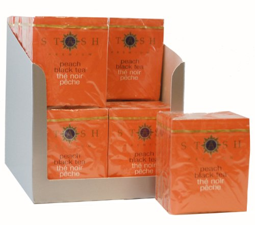 Stash Tea Peach Black Tea, Tea Bags