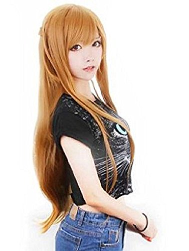 [T2C Sword Art Online Styl Asuna Yuuki Costume Cosplay Wig] (Android 17 And 18 Costumes)