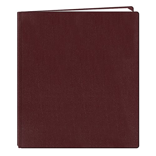 Pioneer 12 Inch by 15 Inch Postbound Family Treasures Deluxe Fabric Memory Book, Rich Bordeaux