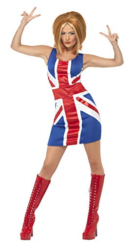 Smiffys Ginger Power, 1990s Icon Costume -
