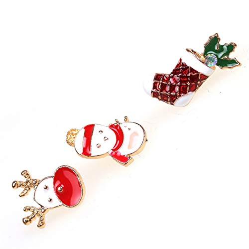 Weihnachten setzen brosche Modeschmuck Broschen schneemann ...