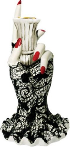 Rubie's Party Zone Single Hand Taper Candle Holder, Ceramic