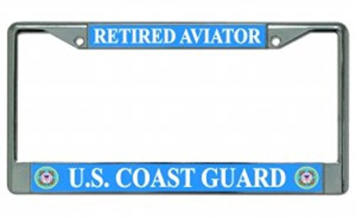 U.S. Coast Guard Retired Aviator Photo License Plate - Aviator Frames Online