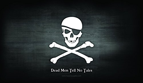 PIRATE FLAG - Skull and Crossbones - Jolly Roger Desk Mat Gaming Mouse Pad - 24