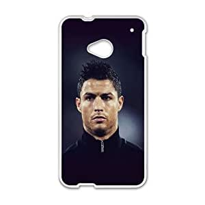 HTC One M7 Cell Phone Case White Cristiano Ronaldo Sports Face BNY_6832208