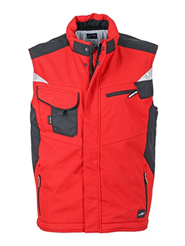 Giacca Con Interno In Softshell Professionale Craftsmen Caldo Rivestimento Red Vest black tqwtUrnx7