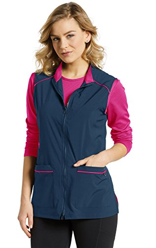 Fit by White Cross Women's 803 Two-Way Zip Front Vest Jacket- Navy- Large ()