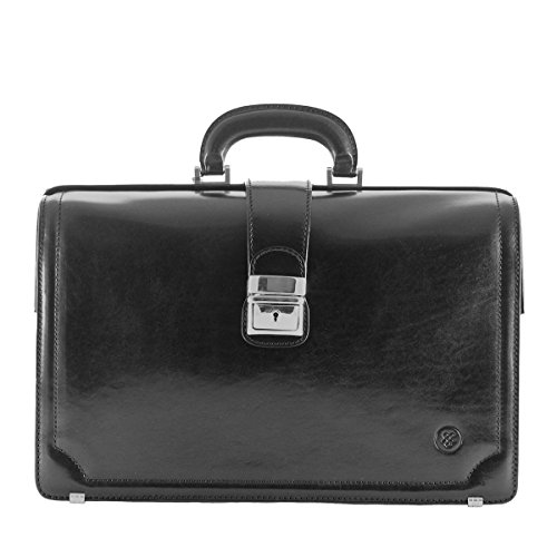 Maxwell Scott Personalized Luxury Black Briefcases for Lawyer (The Basilio) - One Size by Maxwell Scott Bags