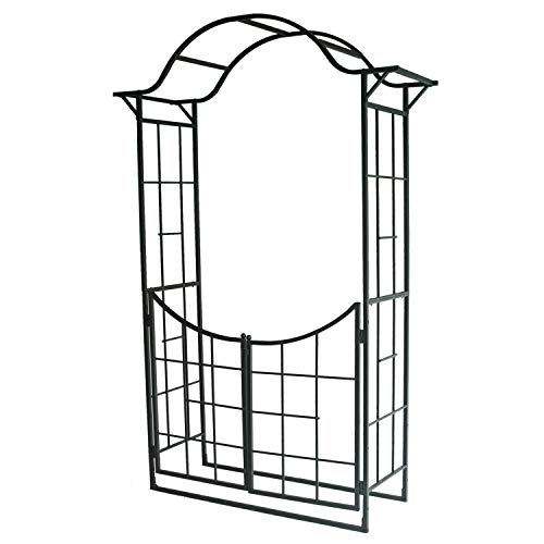 Leisurelife Outdoor Garden Arbor with Gate