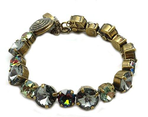 SORRELLI Crystal Patina Grey & Green Mix Antique Goldtone Crystal Bracelet ()