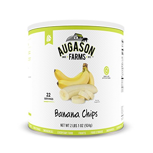 Augason Farms Banana Chips 2 lbs 1 oz No. 10 - Fruit Dried Farms
