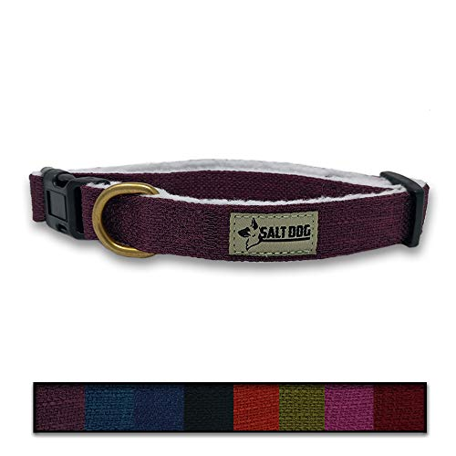 - Salt Dog Natural Hemp Collar (Small, Purple)