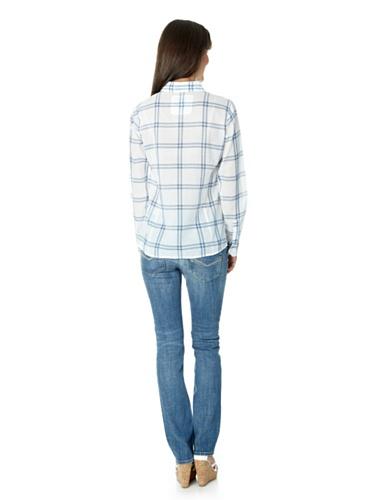 HIs - Vaqueros - Básico - para mujer Blue - mid indigo blue / check