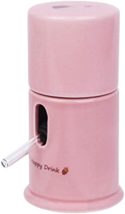 POPETPOP Dispensador de Mascotas con Base de Choza Comedero de Agua de Cerámica para Animales Pequeños con Escondite de Erizo Portador de Botella de Agua de Hámster para Nidos