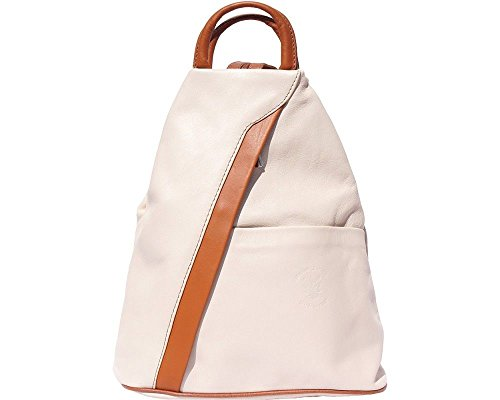 Beige Backpack Tan Brown Bag 2061 Florence Handcrafted Dark in Leather Shoulder Italian Italy amp; PqaHSH