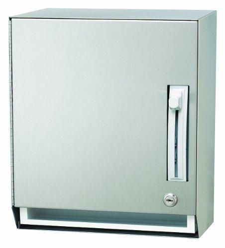 Towel Dispenser Satin Stainless Steel - Bradley 2483-000000 Stainless Steel Surface Mounted Towel Dispenser, 12-1/4
