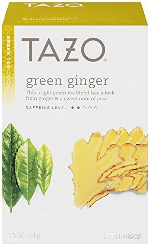 Tazo Green Tea Ginger -- 20 Tea Bags - 2 pc (Green Ginger Tea)