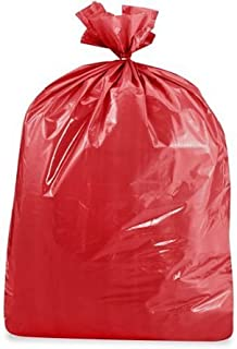 product image for USA-Made Colorful Trash Bags in Variety of Sizes and Colors (10, RED 50 GALLONS)