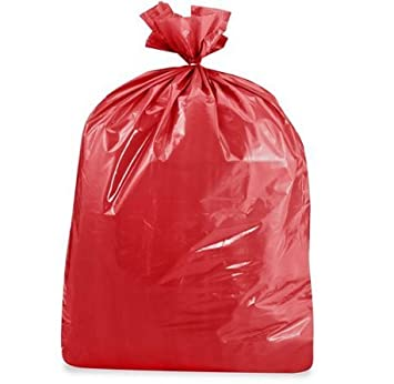USA-Made Colorful Trash Bags in Variety of Sizes and Colors 10, RED 14 GALLONS