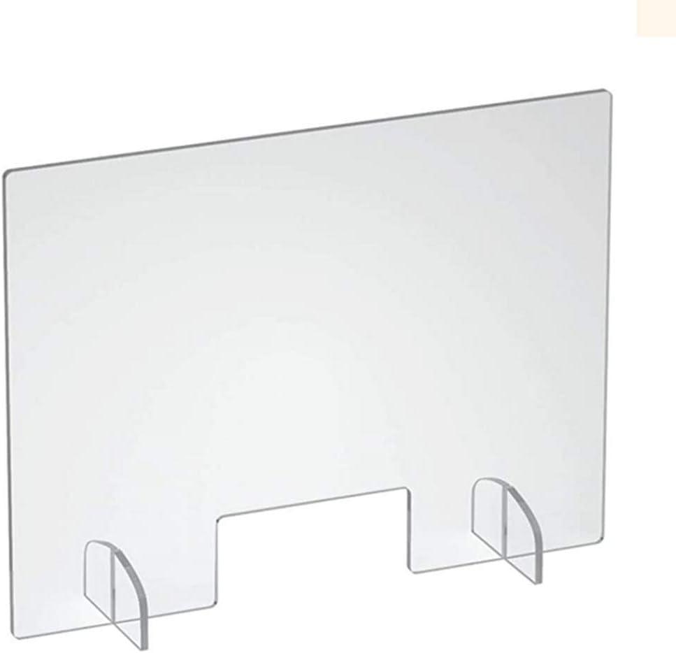 HSBAIS Mampara De ProteccióN, Plexiglás Mampara mostrador Mampara Pantalla Proteccion con ventanilla Pantalla de protección para Entre los Empleados y los Clientes,50x60cm: Amazon.es: Hogar