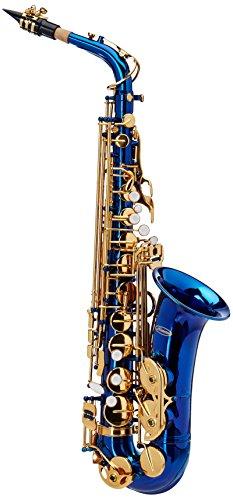 blue alto saxophone - 5