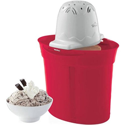 Rival 4-Quart Ice Cream/Frozen Yogurt/Sorbet Maker Red by Rival