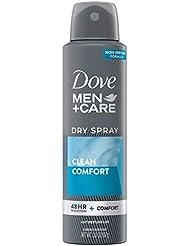 Dove Men+Care Antiperspirant Dry Spray Deodorant for Men Clean Comfort 48 Hour Sweat and Body Odor Protection 3.8 oz