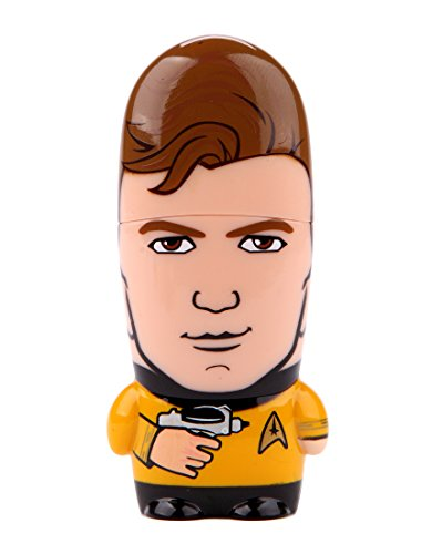 16GB Captain Kirk Star Trek x MIMOBOT Character USB Flash Drive with Bonus preloaded Mimory Content, Limited Edition by Mimoco (Drive Flash Mimobot)