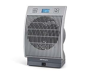 Orbegozo FH 6036 – Calefactor eléctrico con movimiento oscilante, pantalla digital LCD, 2200 W de potencia, 2 niveles de funcionamiento, modo ventilador