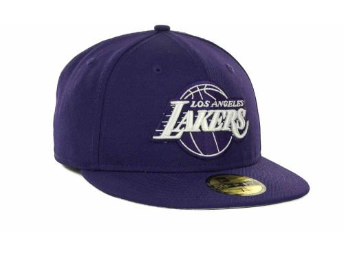 Los Angeles Lakers New Era 5950 Fitted Size 7 5/8 NBA Hat Cap - Gold Sticker Attached