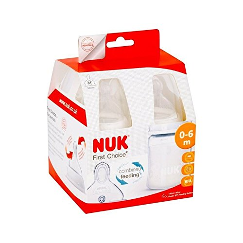 Nu-kote First Choice Plus Fireworks 150ml Bottle Silicone Teat 4 per pack - Pack of 6