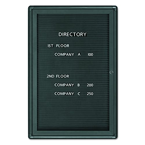 Quartet 2963LM Enclosed Magnetic Directory, 24 x 36, Black Surface, Graphite Aluminum Frame by Quartet