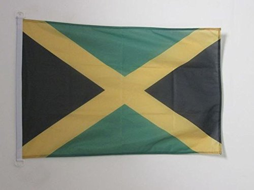 AZ FLAG Jamaica Flag 2' x 3' for Outdoor - Jamaican Flags 90 x 60 cm - Banner 2x3 ft Knitted Polyester with Rings