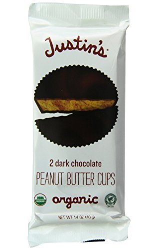 Justin's Organic Peanut Butter Cups, Dark Chocolate, 1.4 oz (Pack of 24) by Justin's Nut Butter