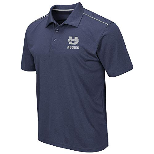 Mens Utah State Aggies Eagle Short Sleeve Polo Shirt - - Aggies Golf Utah State