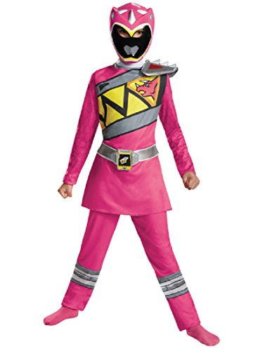 Dino Power Ranger Costume (Disguise Pink Power Ranger Dino Charge Classic Costume, Small (4-6x))
