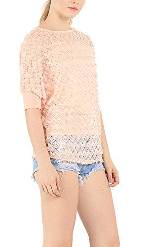 Damen T-Shirts Mit Spitze Stitching Rundhalsausschnitt Blusen  Fledermausärmel Zweiteiler Oberteile Trendy Beiläufiges Tops ...