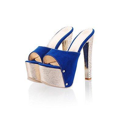 LFNLYX Zapatillas de mujer & Flip-Flops Verano Confort Slingback PU Parte & vestido de noche azul Stiletto talón Plata Oro Rosas caminando Rose Pink
