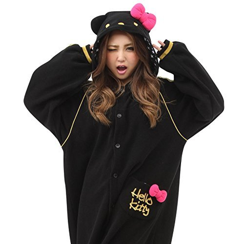 Hello Kitty Eternal Kigurumi (Black), Adults, Black