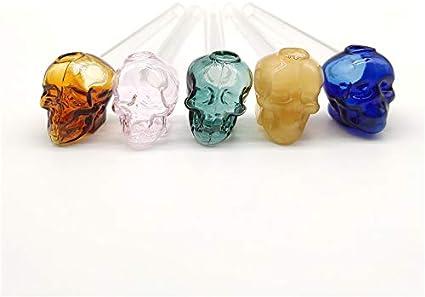 SEA GIANT Handmade 6 Inch Skull Shape Glass Crafts Random Color (3Pcs)
