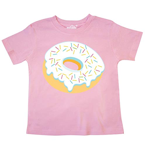 - inktastic - White Donut with Sprinkles Toddler T-Shirt 2T Pink 3500f