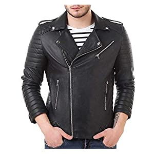 Leather Retail® Faux Leather Biker Jacket for Roadies