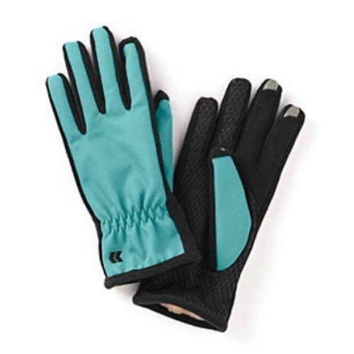 Isotonerスマートタッチ女性用ブルーマトリックスTech &テキスト手袋Ultraplush med / lg