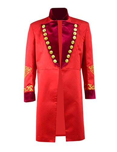 Qi Pao Kids Greatest Showman Barnum Performance Uniform Halloween Outfit Cosplay Costume (Little Boys 4, Red Coat) -
